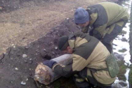В Грозном обезвредили 100-килограммовую авиабомбу