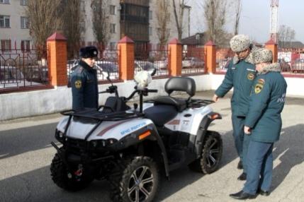 Автопарк МЧС в Чечне пополнился двумя квадроциклами